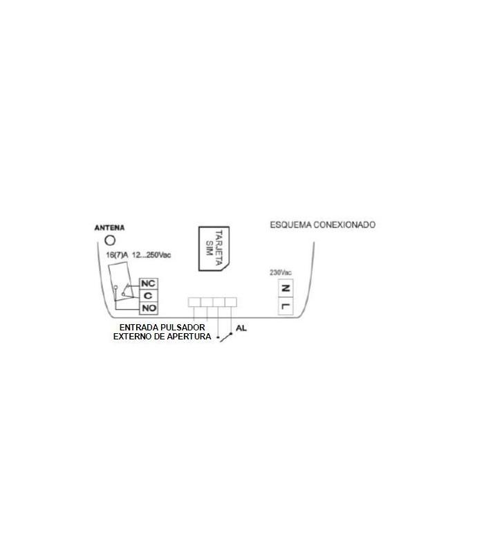 Telemando GSM con 1 entrada 1 salida + Sonda de temperatura