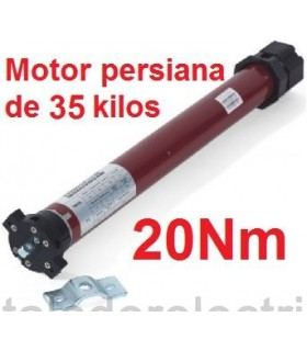 Motor tubular 45mm 20Nm para 35 kilos