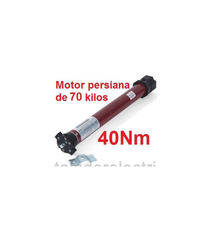 Motor tubular 45mm 40Nm para 70 kilos