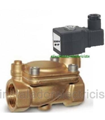 """Electroválvula agua servocomandada 1"""" 16bar N/C 220V"""