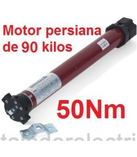 Motor tubular 45mm 50Nm para 90 kilos