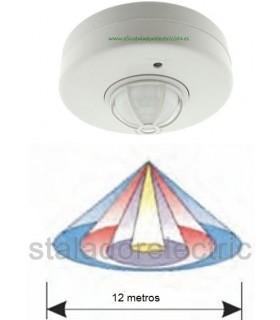 Detector de movimiento por infrarrojos para techo Ø 12metros