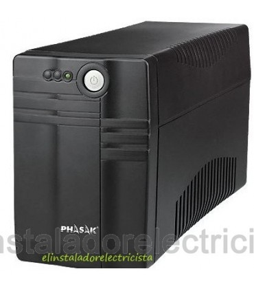 SAI Phasak 650 VA Led Tecnología Digital Interactiva