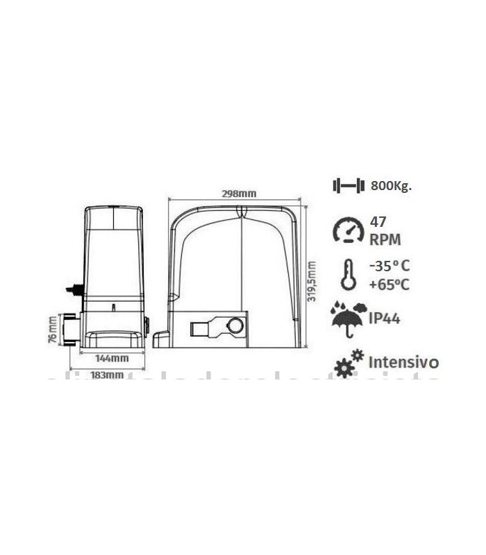 Kit Motor 1.000kg Corredera 24V. SLIDE1024