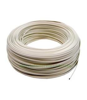 Cable telefónico 4 hilos 100 metros color marfil