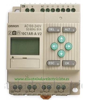 10C1AR-A-V2 Zen Omron Sal. relé LCD RTC 240 AC