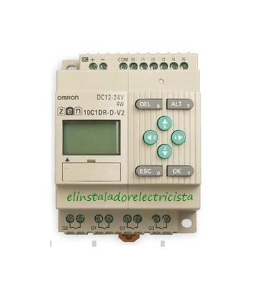 ZEN 10C1DR-D-V2 Omron Sal. relé LCD RTC 24 DC