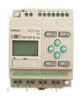 ZEN 10C1DT-D-V2 Omron Sal. TRT LCD RTC 24 DC