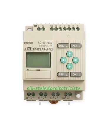 ZEN 10C3AR-A-V2 Omron Sal. relé LCD RTC No exp 240 AC