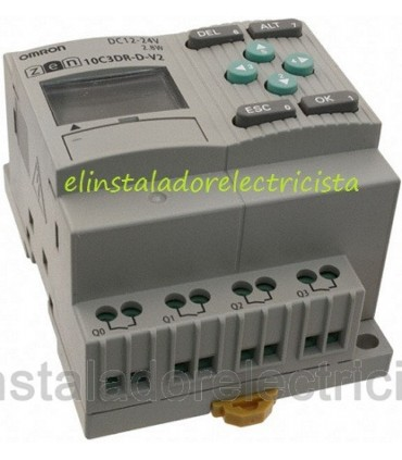 ZEN 10C3DR-D-V2  Omron Sal. relé LCD RTC No exp 24DC