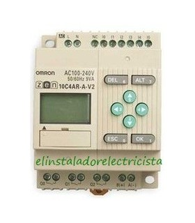 10C4AR-A-V2 Zen Omron Sal. relé LCD RTC RS485 240 AC