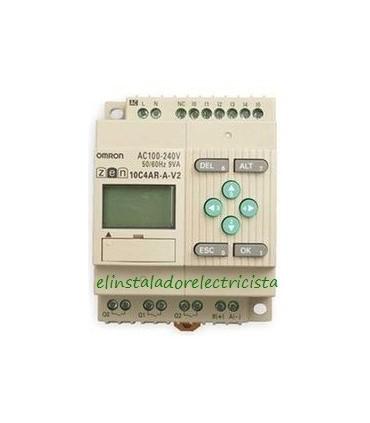 10C4AR-A-V2 Zen Omron Sal. relé LCD RTC RS485 240 AC