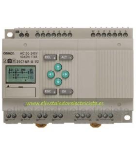 20C1AR-A-V2 Zen Omron Sal. relé LCD RTC 240 AC
