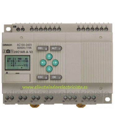 ZEN 20C1AR-A-V2 Omron Sal. relé LCD RTC 240 AC