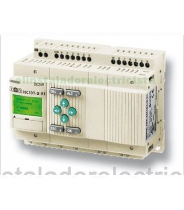 ZEN 20C3AR-A-V2 Omron Sal. relé LCD RTC No exp 240AC