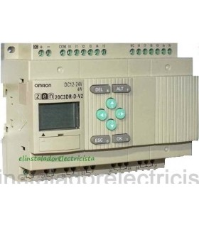 20C3DR-D-V2 Zen Omron Sal. relé LCD RTC No exp 24DC