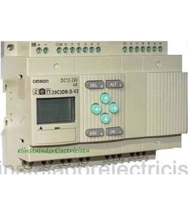ZEN 20C3DR-D-V2 Omron Sal. relé LCD RTC No exp 24DC
