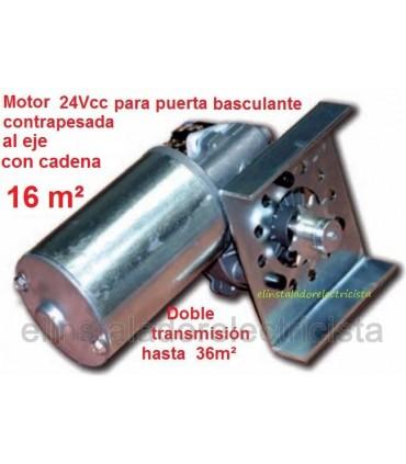 Motor 24V basculante TRACK 24 final de carrera y encoder