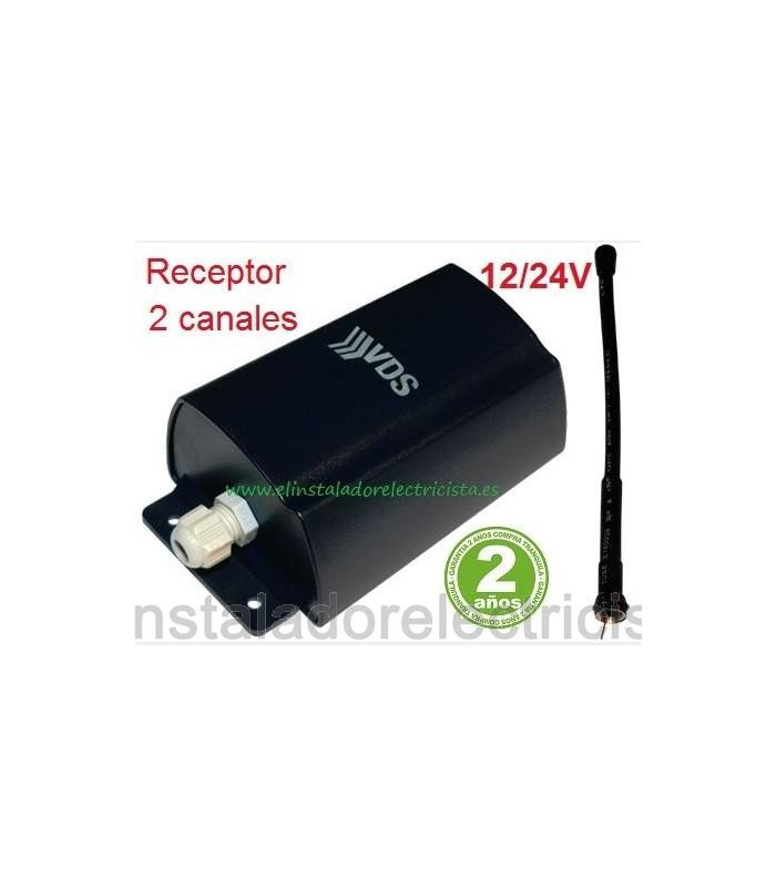 Receptor 2 canales 433.92mhz 12/24V SMR24 C2