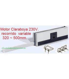 Motor Claraboya 230V recorrido variable 320/500mm