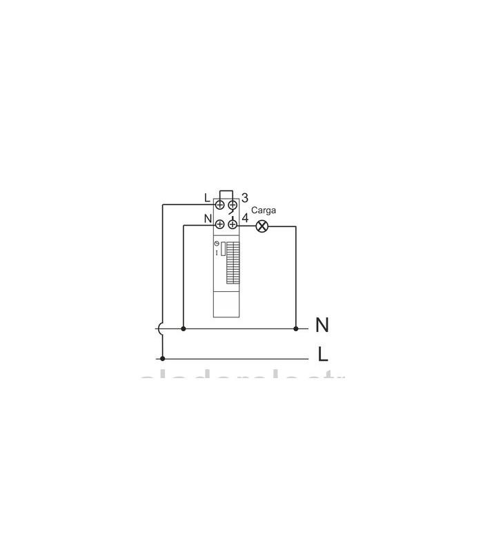 Reloj horario mecánico 24h 16A 240Vac  módulo 18mm