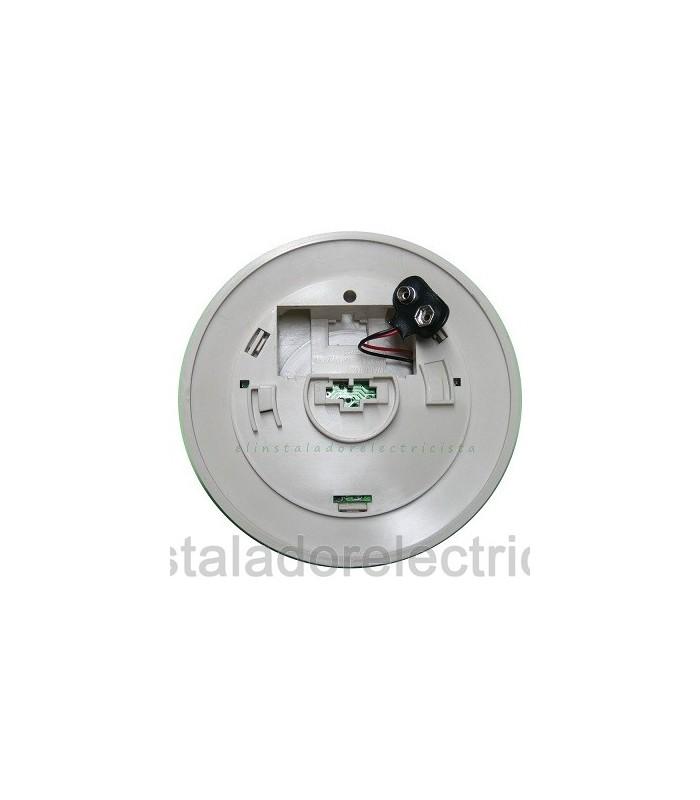 Detector de Monóxido de carbono autónomo C/alarma acústica alimen. pila 9Vol.