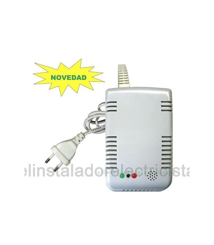 Detector de gas butano propano Natural alimen. 12/24VDC y  220vac