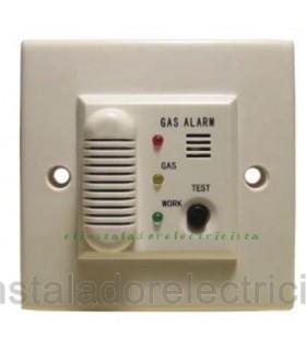 Detector gas butano, propano, natural para caja mecanismos c/alarm220v sal relé C/NA/NC.