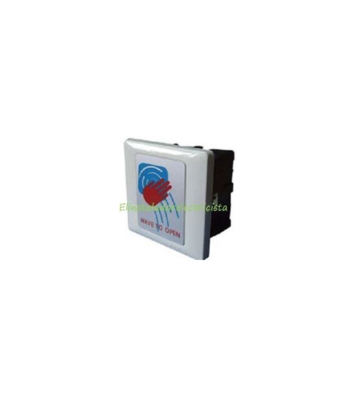 interruptor pulsador temporizado sin contacto por micro ondas