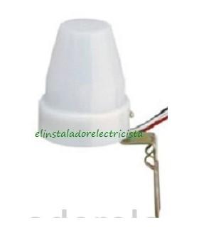 Interruptor Crepuscular con soporte protección  220Voltios