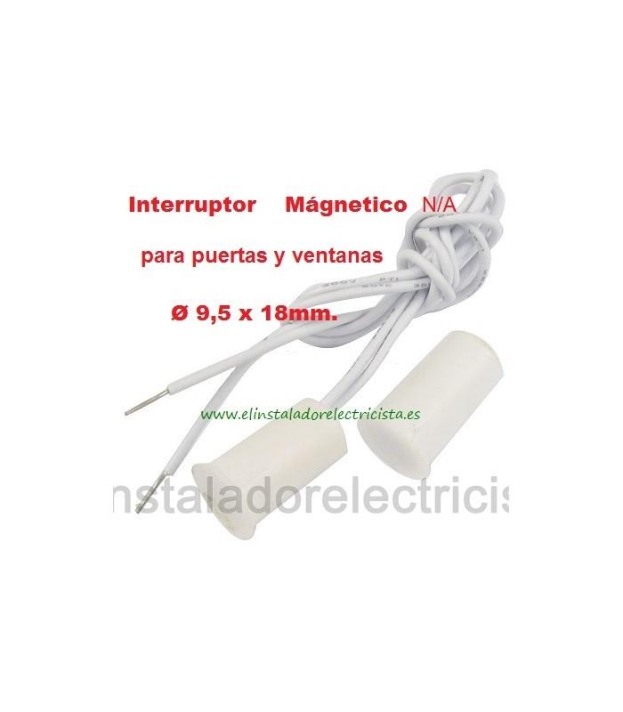 Contacto Magnético miniatura empotrable puertas, ventanas