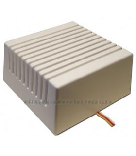 GLS-100-12 Sirena para interior con altavoz 110dB bitonal ó tono continuo avisos  intrusión