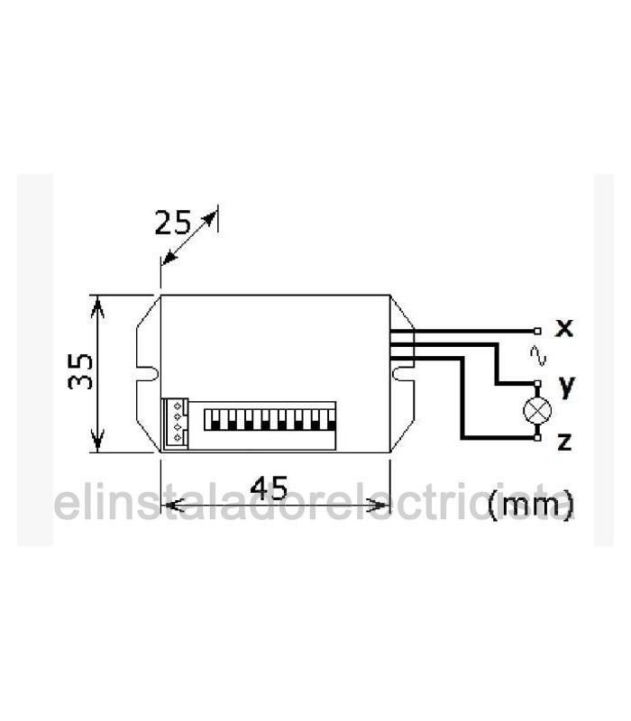 Detector PIR para integración en hueco Ø 19 mm