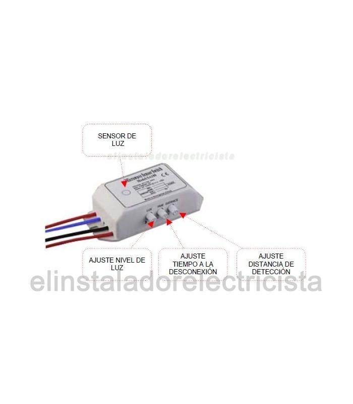 Detector de Movimiento por Micro-ondas control iluminación/puertas