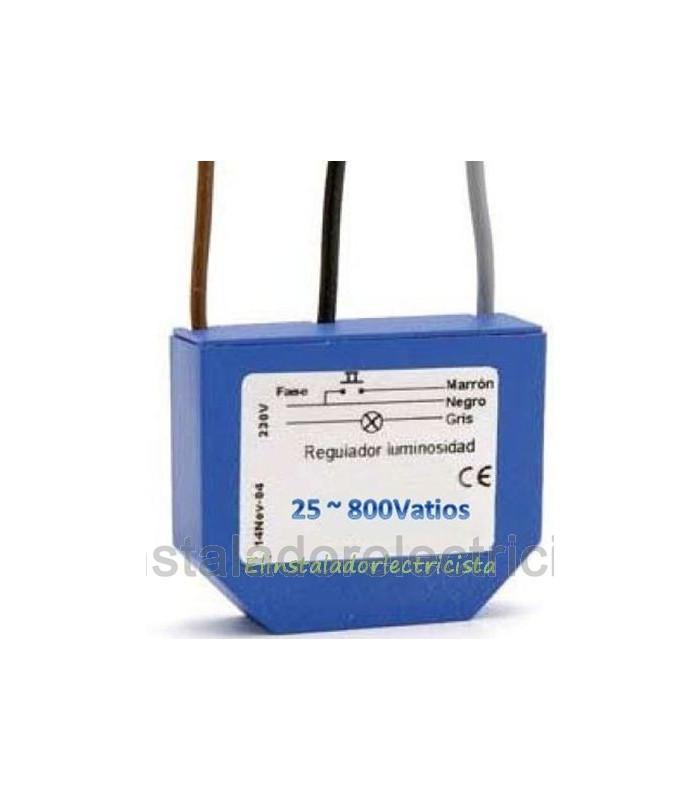 Regulador Dimmer 25/800 Vatios con filtro de interferencias