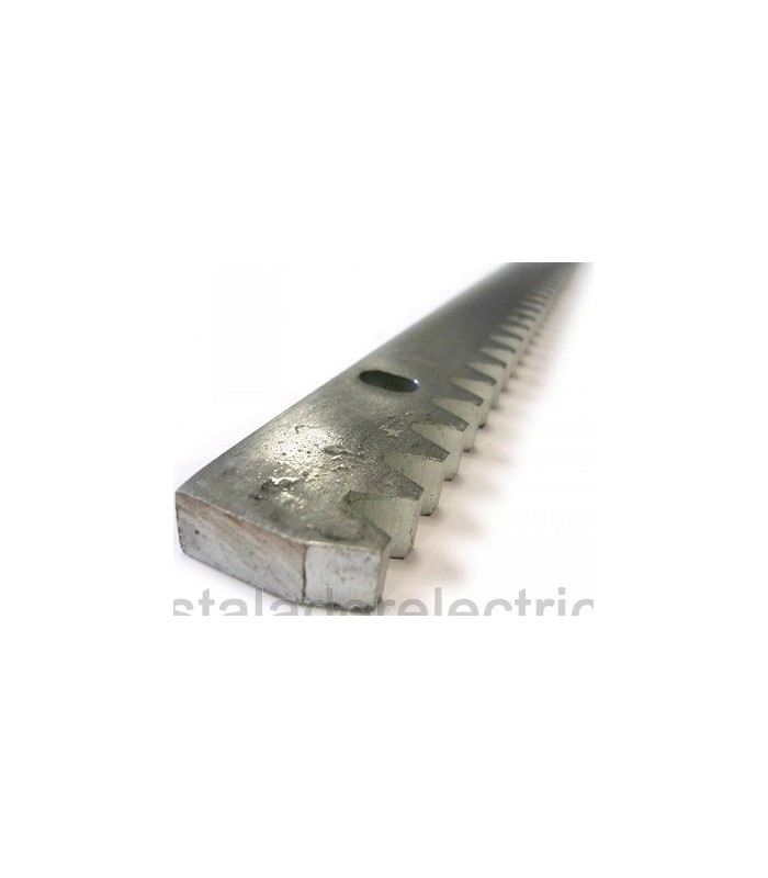 64100005 Cremallera galvanizada 30x12x1000 mm con distanciadores y tornillos