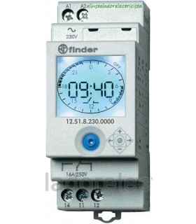 Interruptor horario Digital estilo analógico unipolar 230V 16A 12.51.8.230