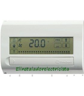 Cronotermostato digital pantalla táctil-blanco brillante Finder 1C.71.9.003.0107