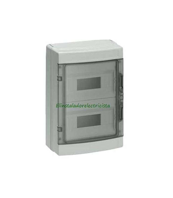 Armario Superficie  IP55-Tapa Transparente 24 Módulos (275x355x108)