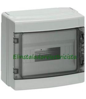 Armario Superficie  IP55 Tapa Transparente 12 Módulos (300x260x140)