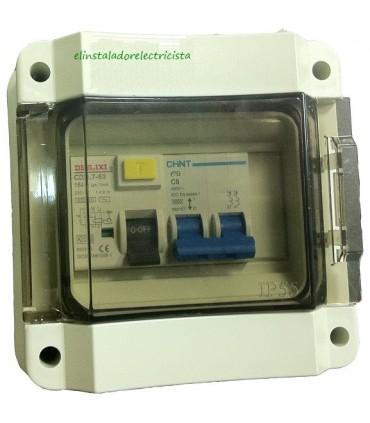 Armario de Superficie IP55 Tapa Transparente 5 módulos