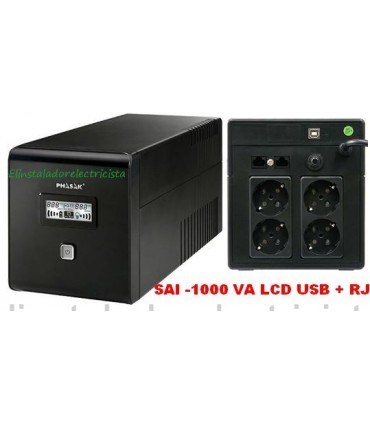 SAI PHASAK 1000 VA LCD USB+RJ