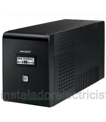 SAI Phasak 2000VA LCD USB con protección para RJ