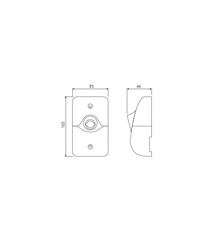 Alarma doble señal acústica  115dB y luminosa estroboscópica