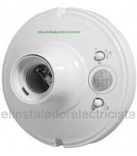 Base portalámparas E27 con sensor de movimiento
