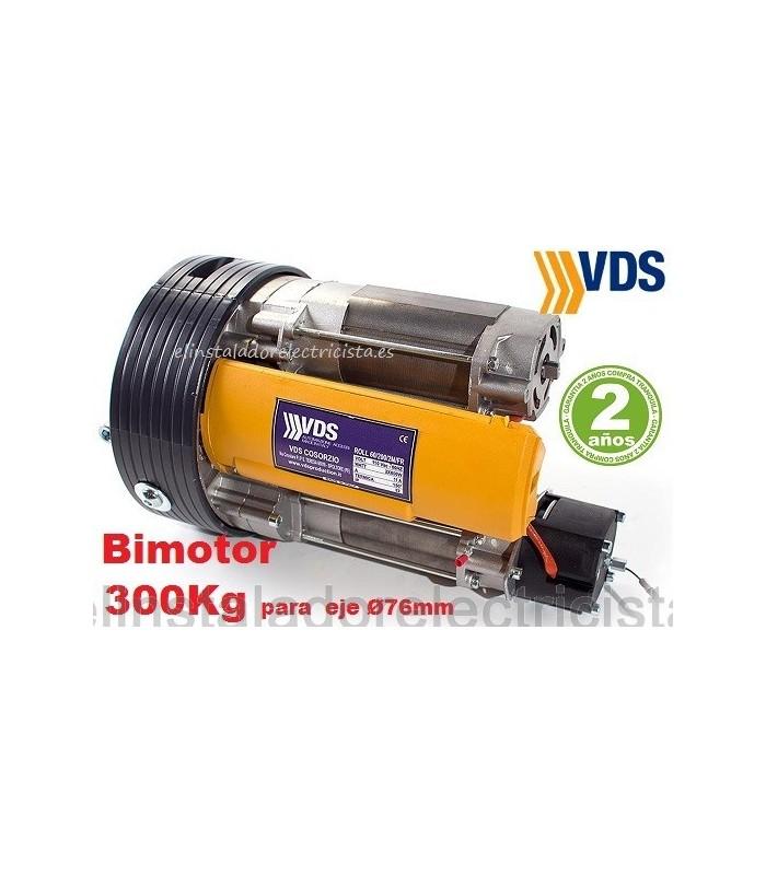 Motor (bimotor) ROLL 240/2M 300K para puertas enrollables eje 76mm