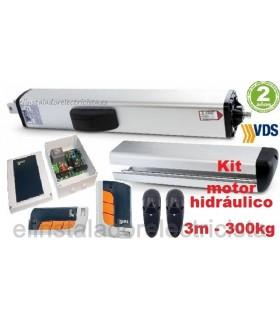 Kit brazo hidráulico reversible para puerta batiente 3m y 300kg VDS PH C270