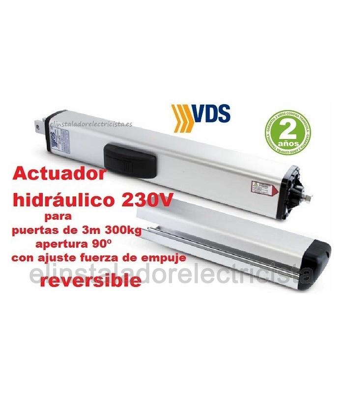 Brazo hidráulico reversible para puerta batiente 3m y 300kg VDS PH C270