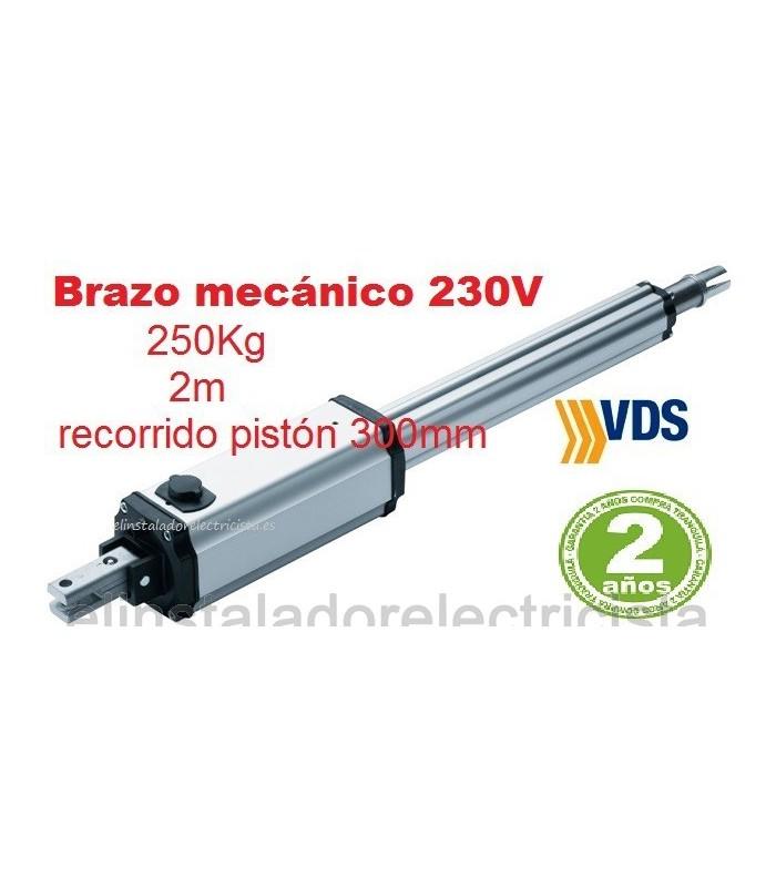 Motor puerta batiente irreversible 2m y 250kg. VDS PM1-C300