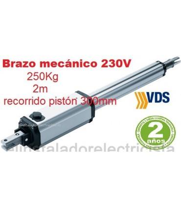 Motor PM1-C300 irreversible puerta batiente 2m y 250kg. VDS
